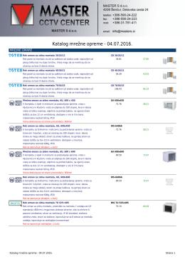 Katalog mrežne opreme