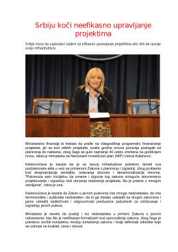 Srbiju koči neefikasno upravljanje projektima