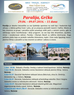 Paralija Jul 2016 - Med travel agency