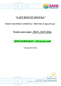 Neos Marmaras TERMIN