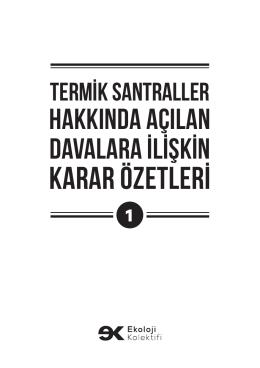karar özetlerİ - İklimAdaleti.org