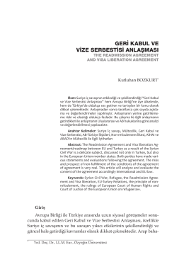 geri kabul ve vize serbestisi anlaşması
