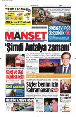 Keşif yapılacak - Antalya Haber - Haberler