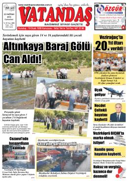25 Haziran - Vezirköprü Vatandaş Gazetesi