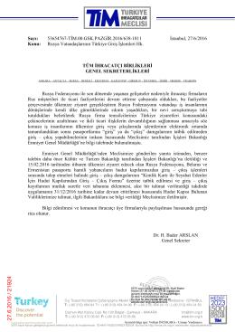 Rusya Vatandaşlarının Türkiye` ye Giriş İşlemleri
