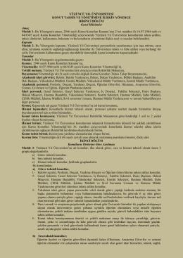 Senato 2014-2-9 YYÜ Konut Tahsis ve Yönetimine İlişkin Yönerge