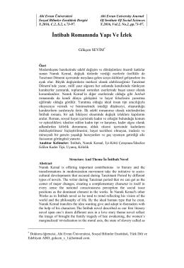 Tam Metin - Ahi Evran Üniversitesi Sosyal Bilimler Enstitüsü Dergisi