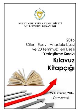 2016 Klavuz Kitapçığı - KKTC Milli Eğitim ve Kültür Bakanlığı