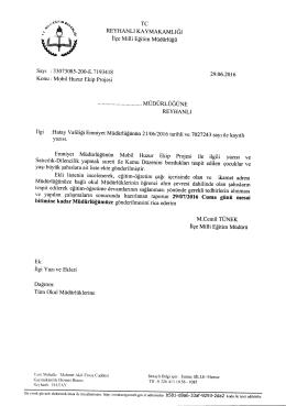 Mobil Huzur Ekip Projesi - reyhanlı ilçe millî eğitim müdürlüğü