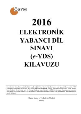 2016 e-YDS