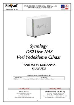 Synology DS216se Kullanım Kılavuzu