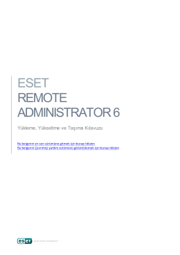 ESET Remote Administrator - Installation and Upgrade Guide