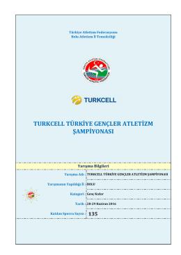 turkcell türkiye gençler atletizm şampiyonası