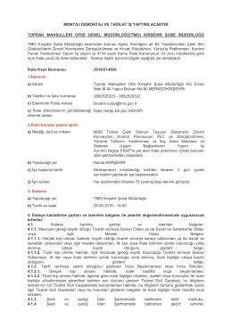 İlan Metni - Toprak Mahsulleri Ofisi