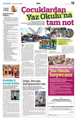 Yaz Okulu - gazete kadıköy