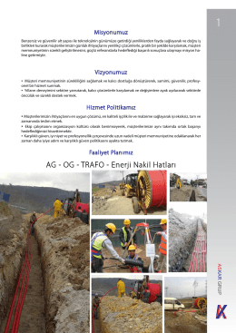 AG - OG - TRAFO - Enerji Nakil Hatları