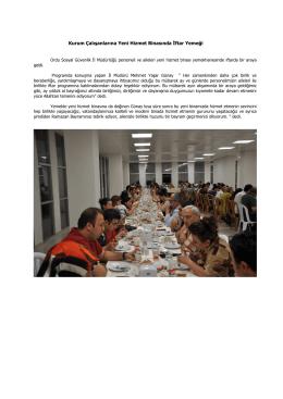 Kurum Çalışanlarına Yeni Hizmet Binasında İftar Yemeği