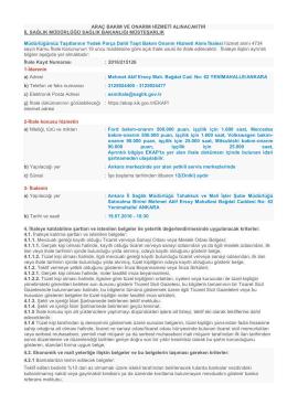 İlan Metni - Ankara İl Sağlık Müdürlüğü