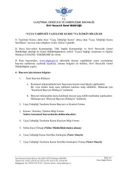 Tazeleme Kurs Bilgileri - Sivil Havacılık Genel Müdürlüğü