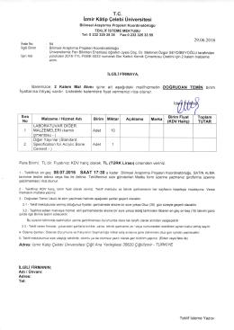 İzmir K6tip Çelebi Üniversitesi - İzmir Katip Çelebi Üniversitesi