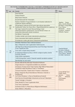 3-2016 yılı yurt dışı eğitim kontenjanları listesi