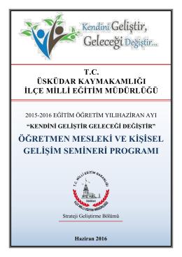 haziran_semineri - üsküdar ilçe millî eğitim müdürlüğü