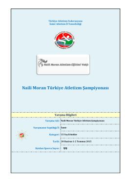 15 Yaş Erkekler Start Listesi - Türkiye Atletizm Federasyonu