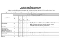 tc çanakkale onsekiz mart üniversitesi fen bilimleri enstitüsü