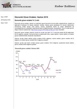 Ekonomik Güven Endeksi-(Haziran 2016