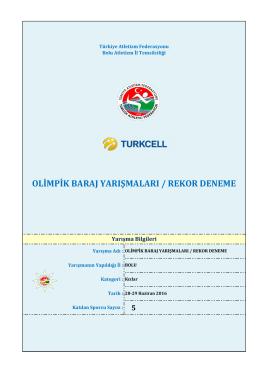 olimpik deneme kadınlar - Türkiye Atletizm Federasyonu