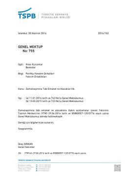 Genel Mektup 755