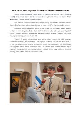 SGK Başkan Yardımcısı Dr. Orhan Koç TRT`ye yaptığı açıklamada