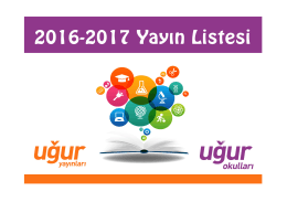 2016 - 2017 uğur okulları temel lise yayın listesi
