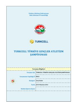 Genç Kızlar - Türkiye Atletizm Federasyonu