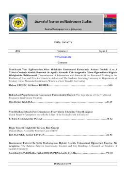 2016 Volume 4 Issue 2 www.jotags.org Contents Mutfaktaki Yeni