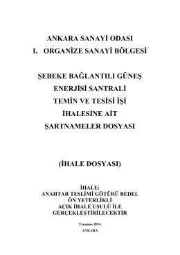 1 DIŞ KAPAK - ANKARA SANAYİ ODASI I. Organize Sanayi