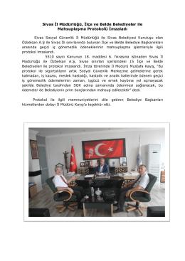 Sivas İl Müdürlüğü, İlçe ve Belde Belediyeler ile