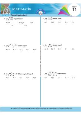 Türevin Uygulamaları - 3 - Ölçme, Değerlendirme ve Sınav