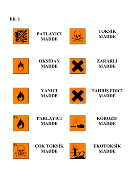 Tehlikeli Madde Sınıflandırma Listesi