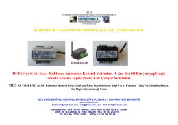 motor kontrol - DCS Endüstriyel Kontrol sistemleri yazılım ve