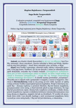 Saga Rodu Targowskich, cz. 2