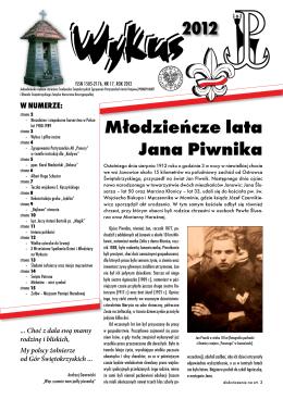 Młodzieńcze lata Jana Piwnika