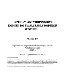 Polskie Przepisy Antydopingowe