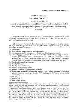 Projekty ustaw - Rządowy Proces Legislacyjny