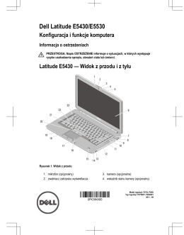 Dell Latitude E5430/E5530 Konfiguracja i