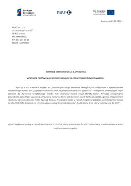 Krosno, dn.21.12.2015 r. XYLIO Sp. z o.o. ul. Kazimierza Pużaka 37