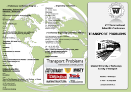 Transport Problems Conference