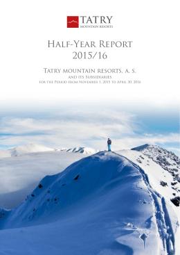Half-Year Report 2015/16