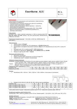 Płyty termoizolacyjne Enertherm ® ALU