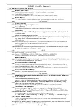 29.06.2016 (środa) w Nałęczowie - VII Kongres Metrologii Lublin 2016